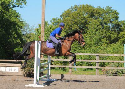 Nicky Southall teaching riding club camp 2018